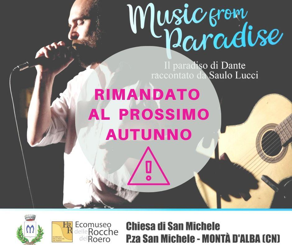!! RIMANDATO IN AUTUNNO !! MUSIC FROM PARADISE